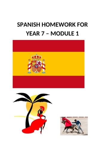 SPANISH HOMEWORK FOR YEAR 7 - MODULE 1