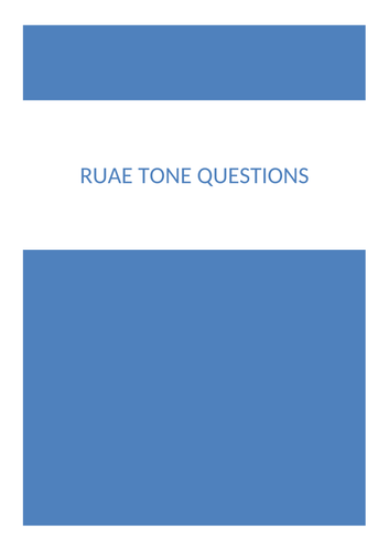 RUAE (Reading for Understanding, Analysis and Evaluating) Tone questions