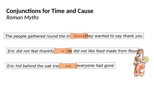 Conjunctions to extend sentences, expressing time and cause (Presentation & Exercises) - Year 3 SPAG
