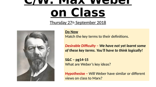 Marx and Weber on Class -AQA Sociology 9-1