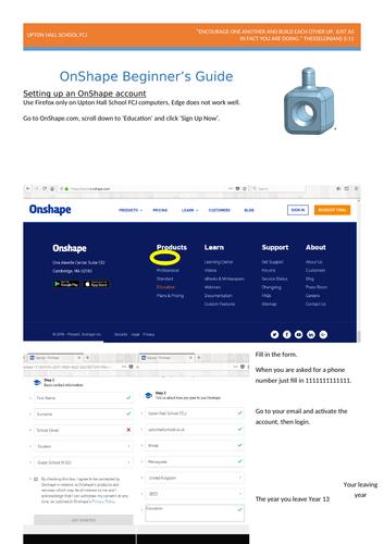 OnShape Beginner's Guide