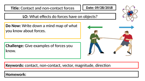 AQA GCSE Physics New Specification - P5 Contact and non-contact forces