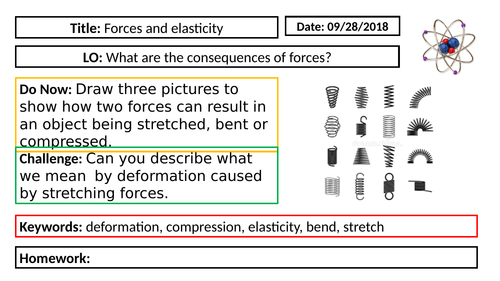 AQA GCSE Physics New Specification - P5 Forces and Elasticity