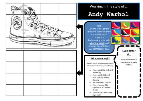 Drawing a converse shoe