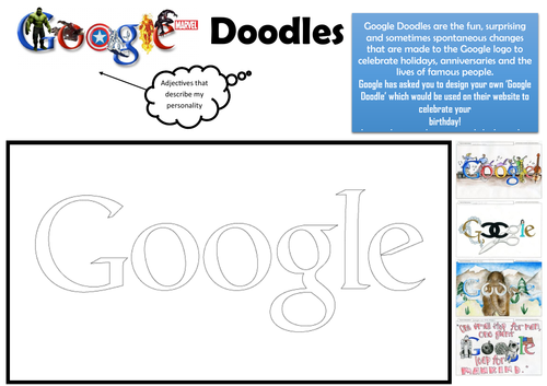 Google Doodles - CREATE YOUR OWN