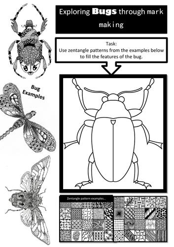 Zentangle Bugs!