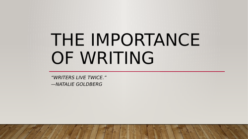 KS4 SEN - English - Writing - Purpose for Writing
