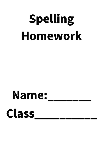 Spelling Homework and Test Booklet (12 weeks) Word Doc