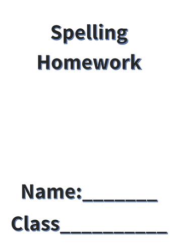 Spelling Homework and Test Booklet (12 weeks) PDF
