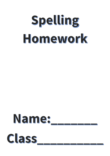 Spelling Homework and Test Booklet (6 weeks)