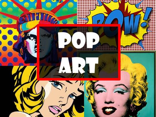 Pop Art Inspired Mixed Media Portiats.