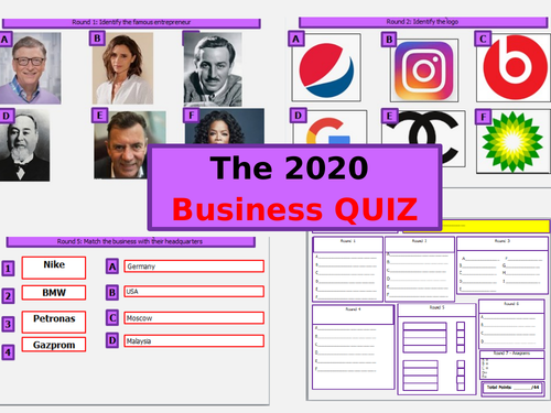 The Big 2019 Business Quiz