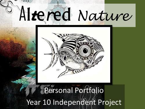 Art GCSE - Altered Nature Scheme of Work
