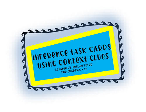 INFERENCE TASK CARDS # 5
