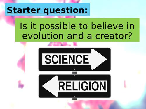 GCSE Religious Studies lesson on Religion vs science