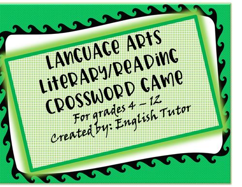 LITERARY CROSSWORD BOARD GAME