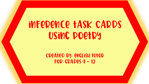 INFERENCE TASK CARDS USING POETRY # 1