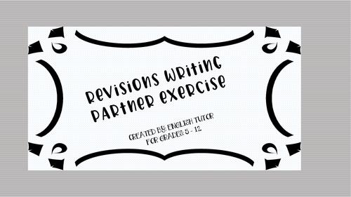 WRITING PARTNER EXERCISE
