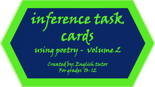 INFERENCE TASK CARDS USING POETRY - #2