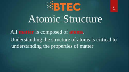 BTEC Level 3 Applied Science Unit 1 Week 1 by hasan_dosemeci