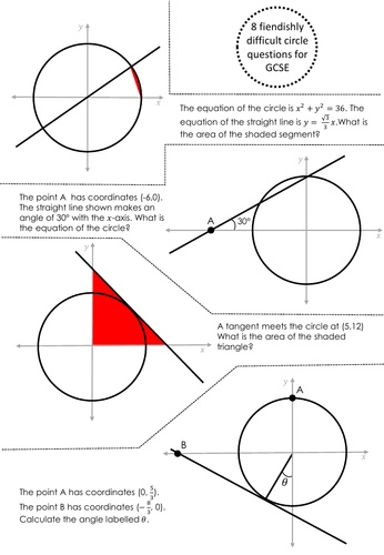Equation of a circle - GCSE - Difficult!