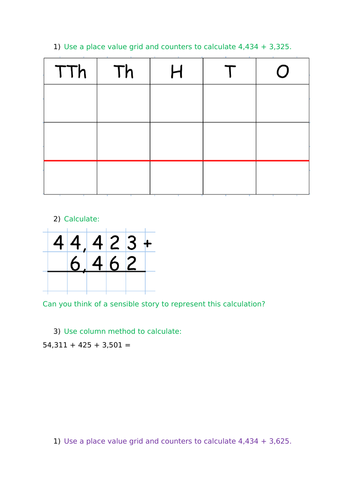 Year 5 WRM Autumn Block 2 - Addition and Subtraction