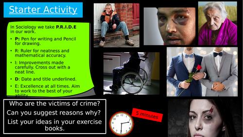 GCSE Eduqas: Victims of Crime