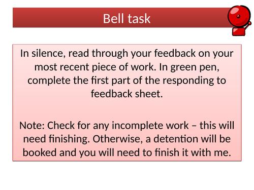 Responding to feedback lesson