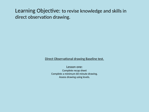 Direct Observation Baseline Drawing Test powerpoint