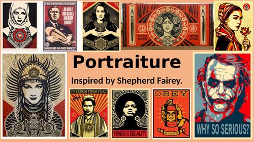 Portraiture- based on Shepherd Fairey