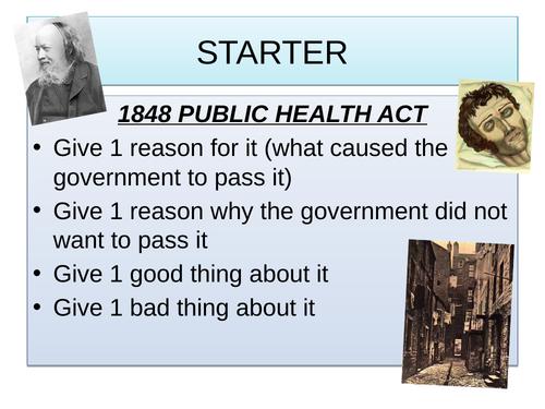 John Snow cholera Edexcel medicine