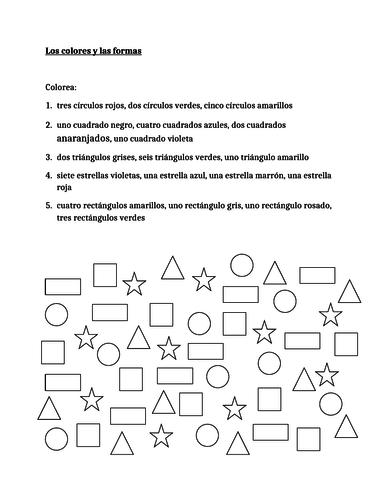 middle school spanish resources shapes. Black Bedroom Furniture Sets. Home Design Ideas