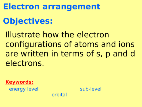 AQA A level Chemistry - Electron configuration and ionisation energies (Physical chemistry - atomic)