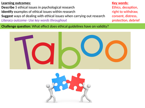 Taboo - key words for research methods