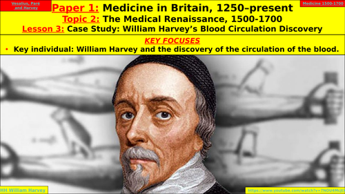 Edexcel GCSE Medicine in Britain, Topic 2 - Medical Renaissance, Lesson 3 - William Harvey