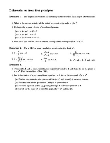 differentiation worksheets