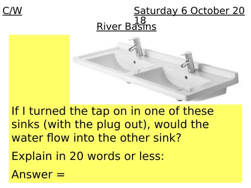 Rivers Lesson 2 - Drainage basins
