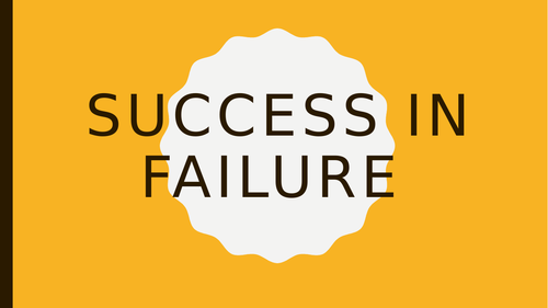 Success in Failure Primary Assembly