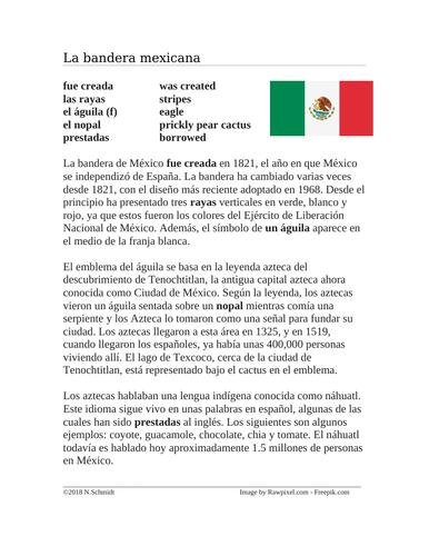La Bandera Mexicana / Leyenda Azteca: History of Mexican Flag / Aztec Legend