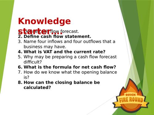 L3 BTEC Business (2016 Spec) Unit 3 Exam - Cash Flow and Cash Flow Forecasts