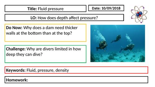 AQA GCSE Physics New Specification - P5 Fluid Pressure