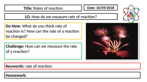 AQA GCSE Chemistry New Specification - C6 Measuring the rate of reaction