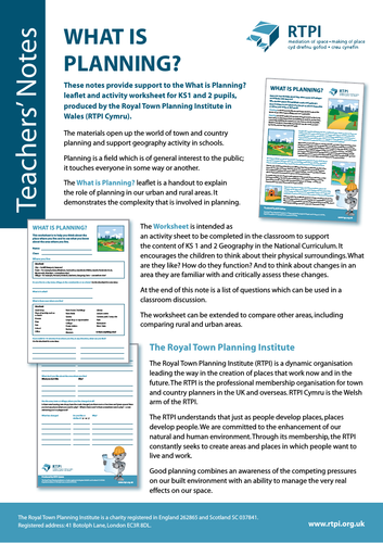 What is Planning? (Primary teaching resource)