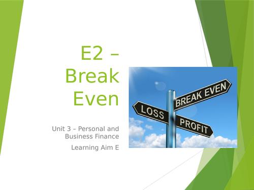 L3 BTEC Business (2016 Spec) Unit 3 Exam - Break Even