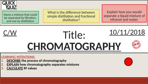 KS4 New GCSE (9-1) - Chromatography (AQA C1 Atomic Structure)