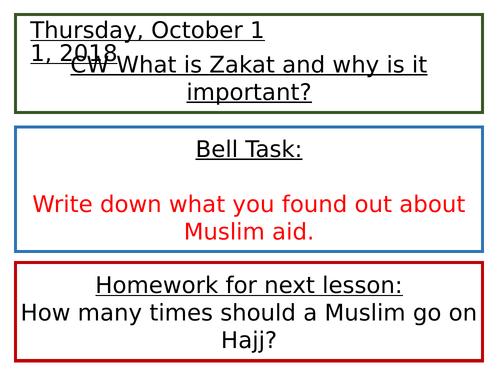 Islam and Charity: Zakat - KS3