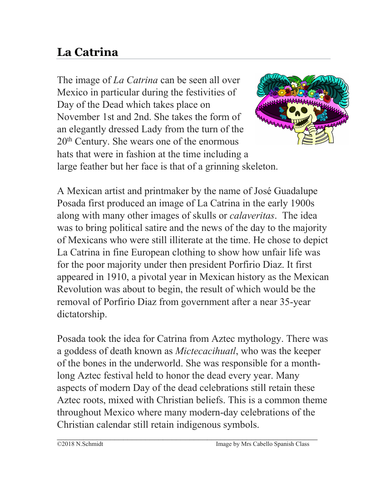La Catrina: Cultural Reading on Famous Mexican Skeleton (English Version)