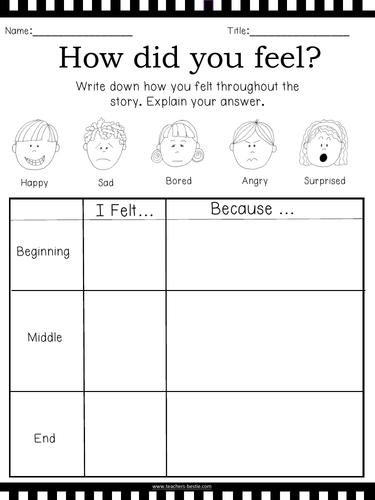 Reading Response - No Prep needed worksheets **BEST SELLER**
