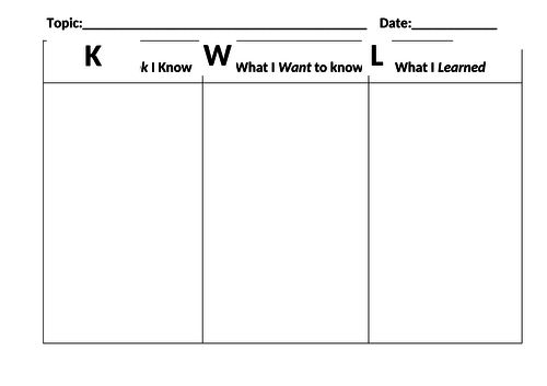 K-W-L Grid