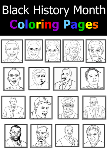 Black History Month - Coloring Pages by onphamon - Teaching ...